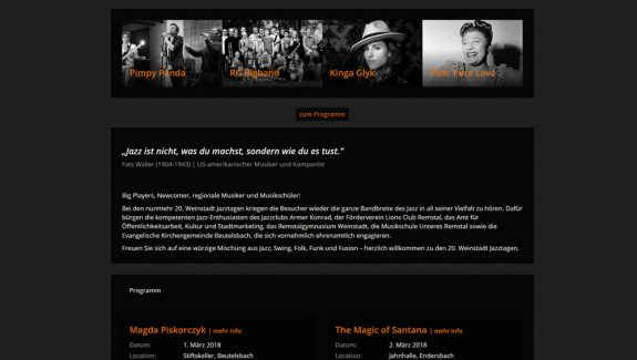 weinstadt-jazztage website