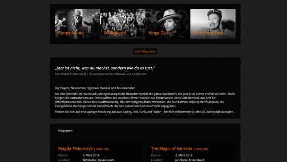 weinstadt-jazztage website